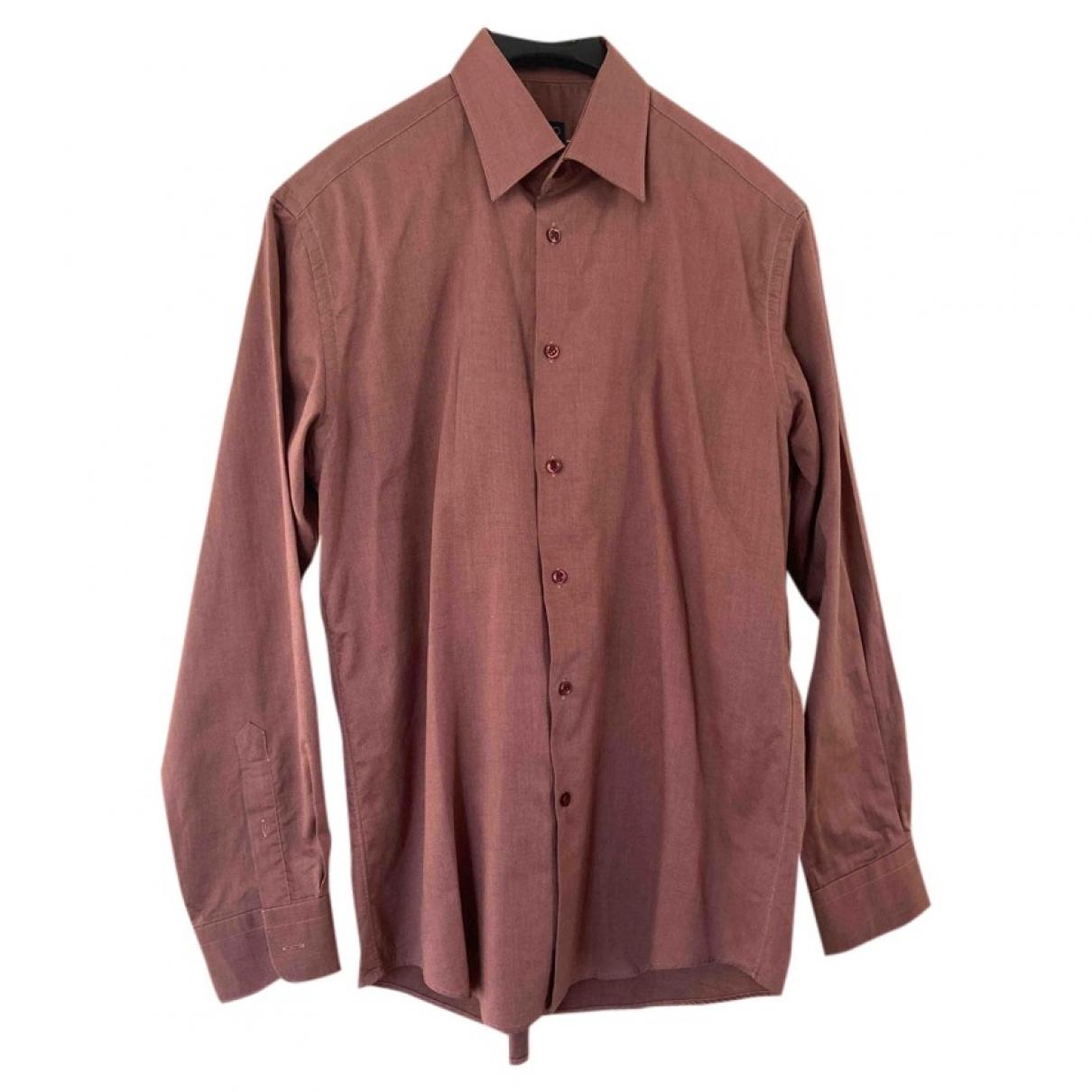 Kenzo \N Pink Cotton Shirts for Men 40 EU (tour de cou / collar)