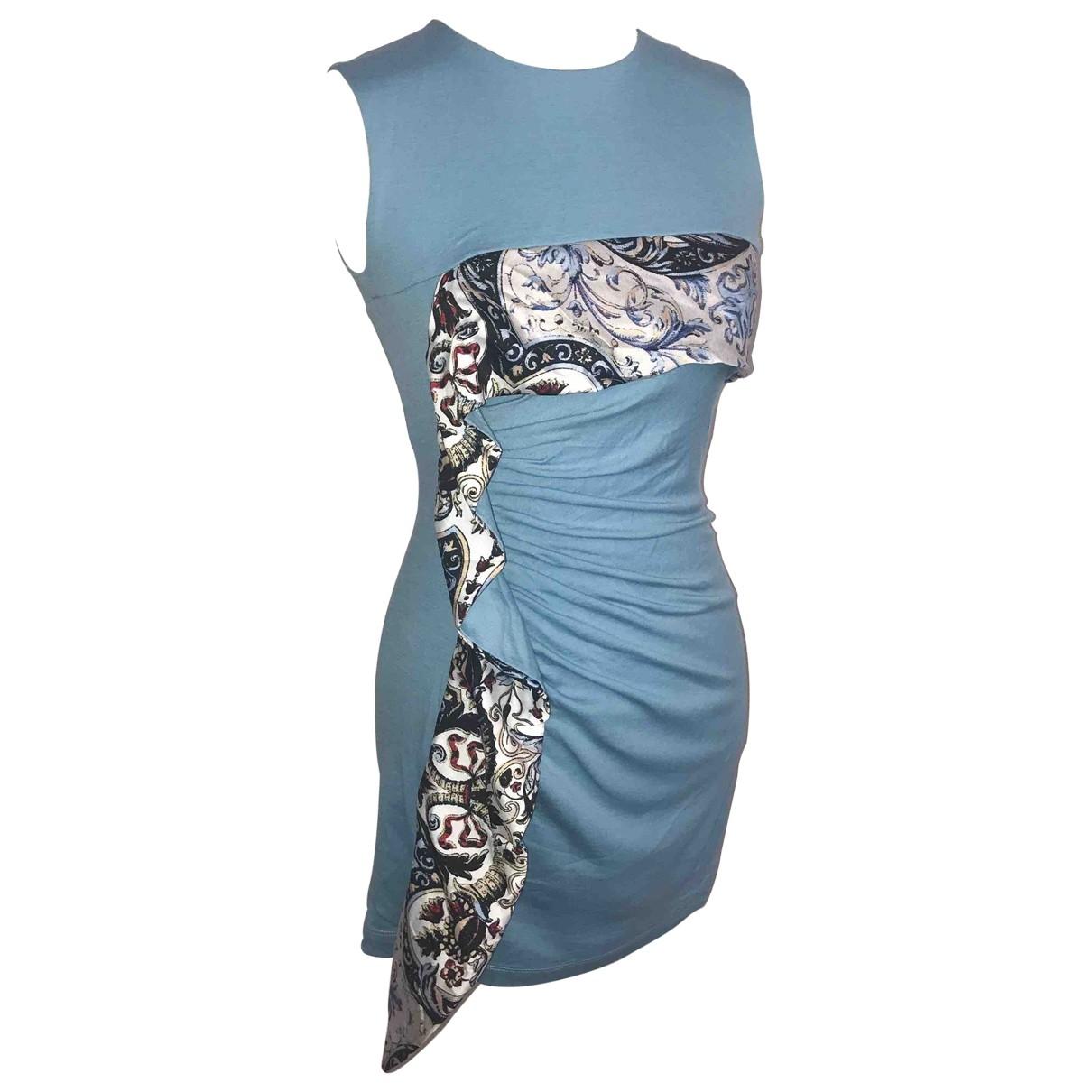 Just Cavalli \N Blue Wool dress for Women S International