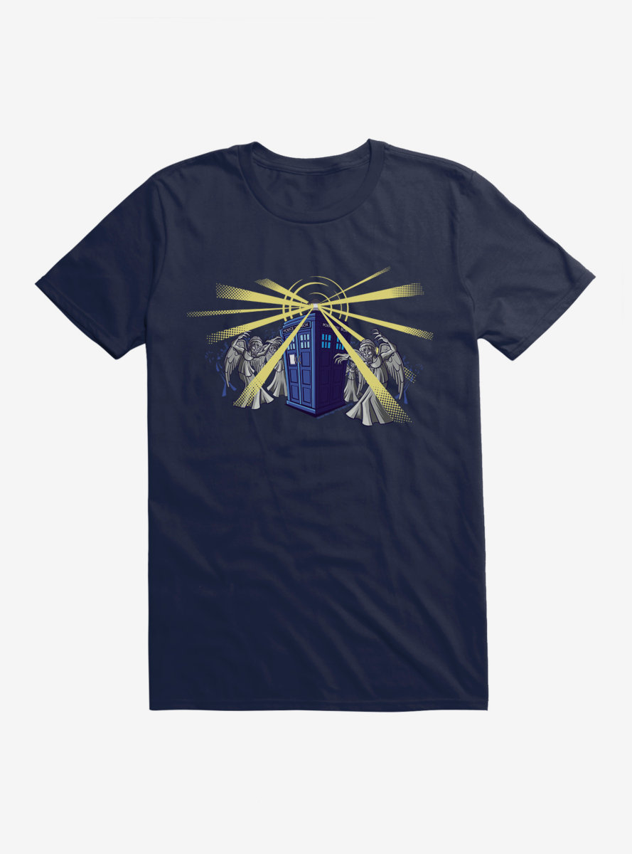 Doctor Who TARDIS Weeping Angel Attack T-Shirt
