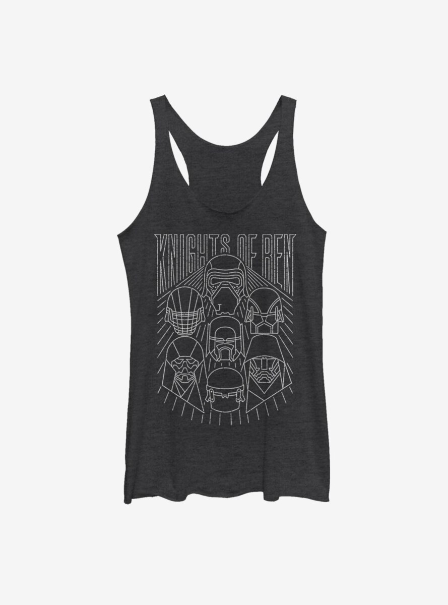Star Wars Episode IX The Rise Of Skywalker Simple Outlines Womens Tank Top