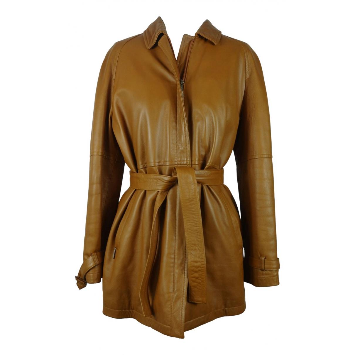 Burberry - Veste   pour femme en cuir - camel