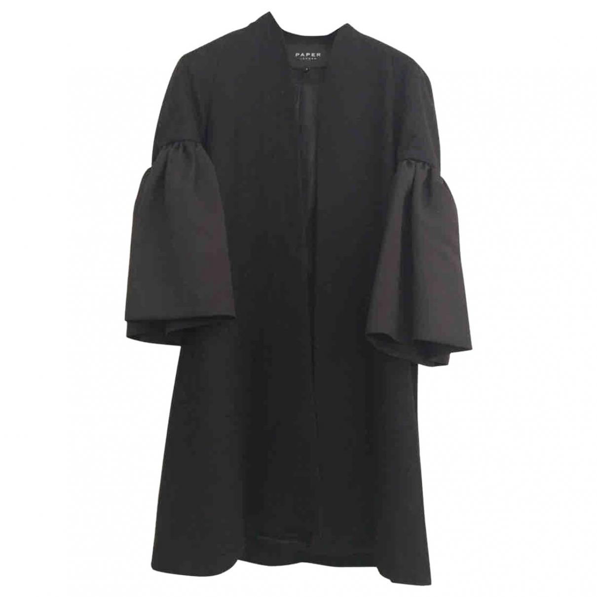 Paper London - Manteau   pour femme en laine - noir