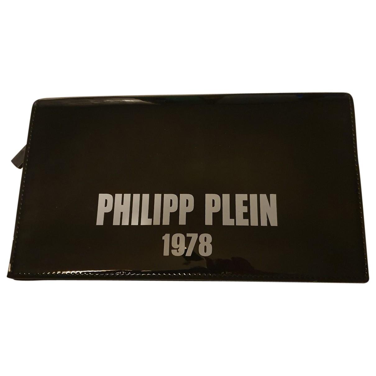 Philipp Plein \N Clutch in  Schwarz Lackleder