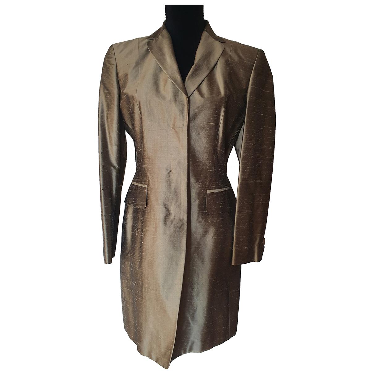 - Veste   pour femme en soie - dore