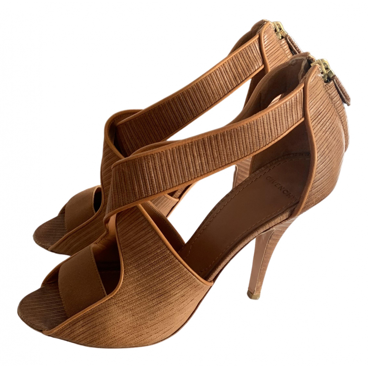 Givenchy N Beige Leather Sandals for Women 40 EU