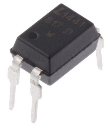 Lite-On , LTV-817D DC Input Transistor Output Optocoupler, Through Hole, 4-Pin PDIP (100)