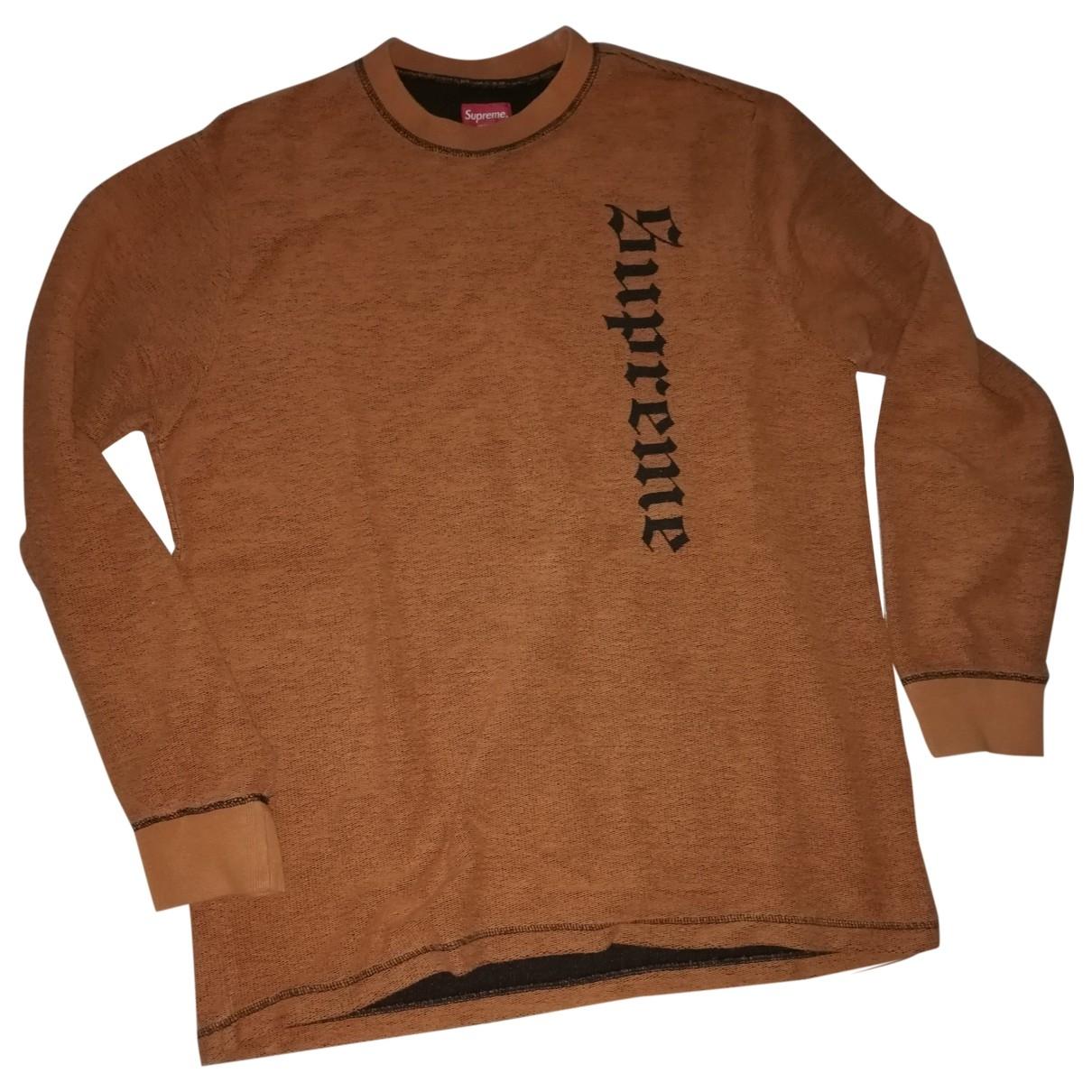 Supreme \N Pullover.Westen.Sweatshirts  in  Orange Baumwolle