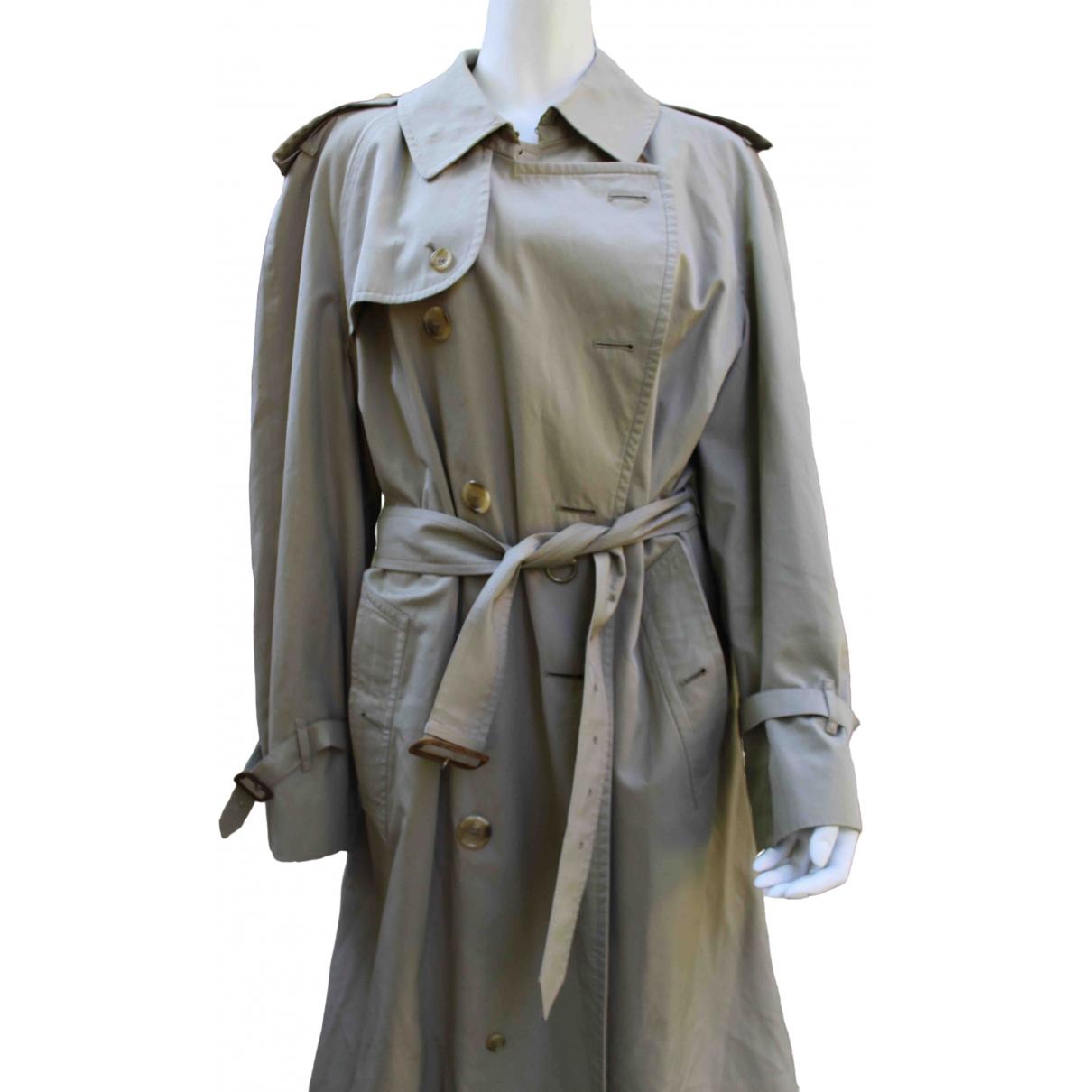 Burberry \N Beige Cotton coat  for Men 50 IT