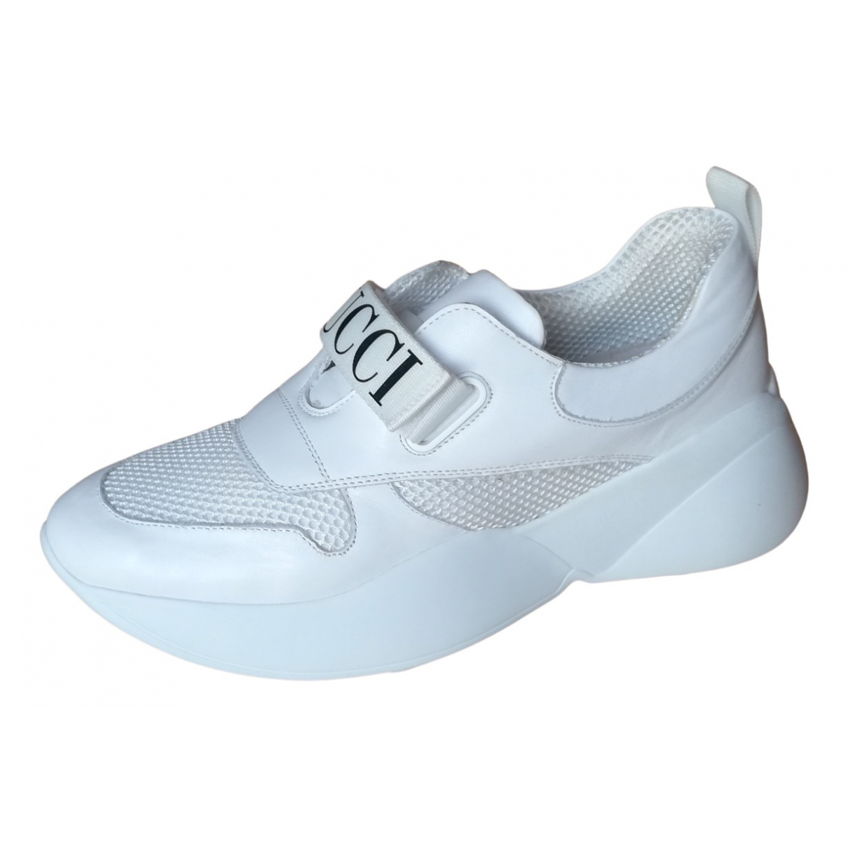 Emilio Pucci \N Sneakers in  Weiss Polyester
