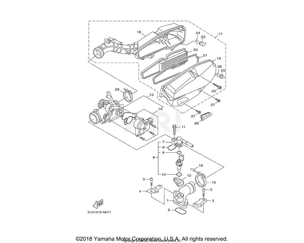 Yamaha OEM 52S-E443G-00-00 PIPE, DRAIN 2