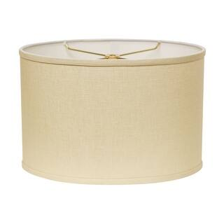 Cloth & Wire Slant Retro Oval Hardback Lampshade with Washer Fitter (Heather)