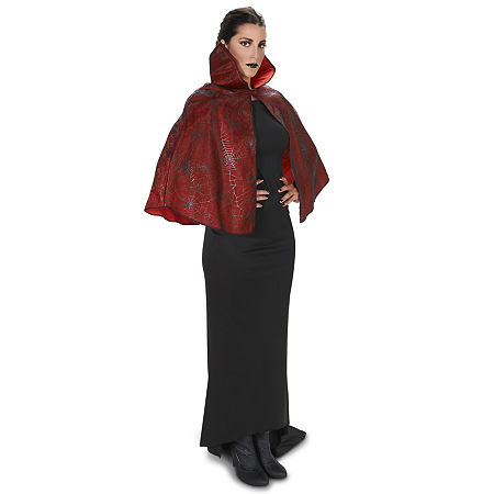 Red Foil Print Spiderweb Adult Cape Unisex Costume, One Size Fits Most , Multiple Colors