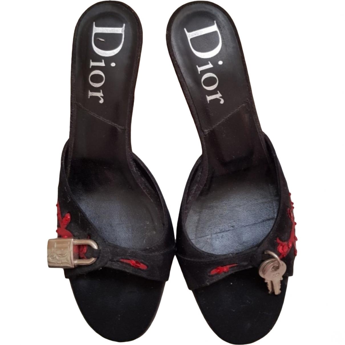 Dior - Sandales   pour femme en toile - noir