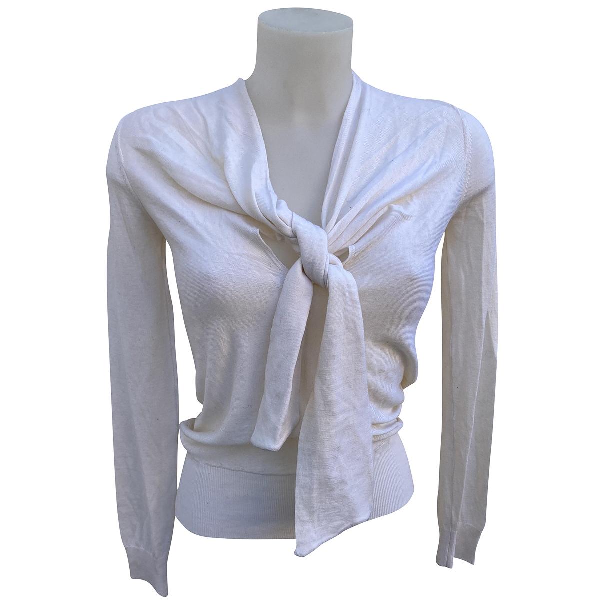 Red Valentino Garavani - Pull   pour femme en laine - blanc
