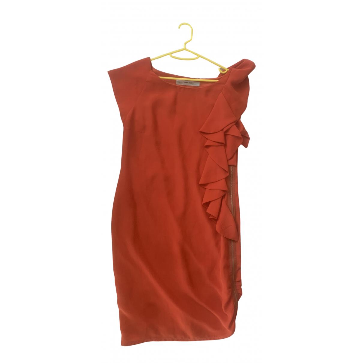 Zara - Robe   pour femme en cachemire - orange
