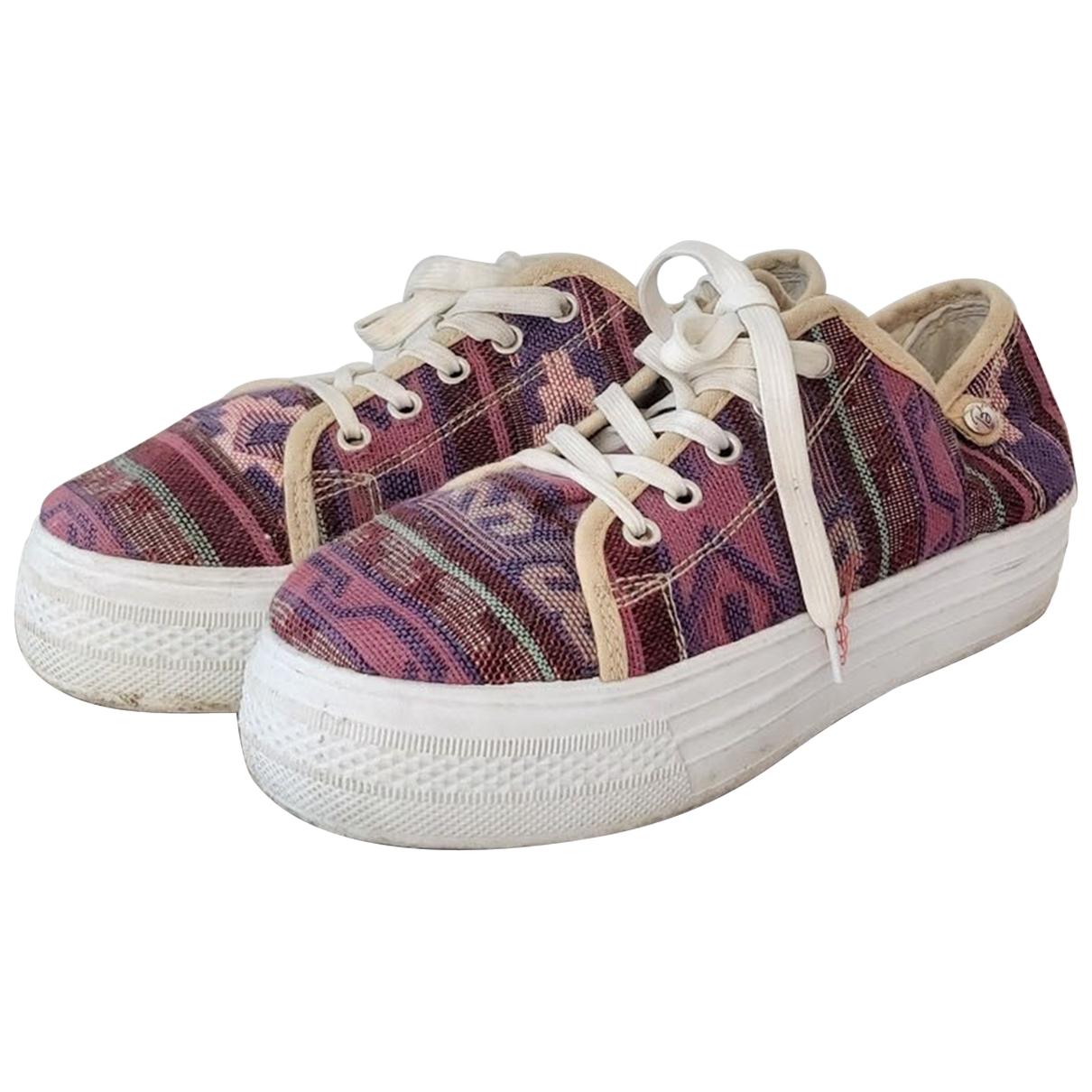 - Baskets Hippie Chic pour femme en toile - multicolore