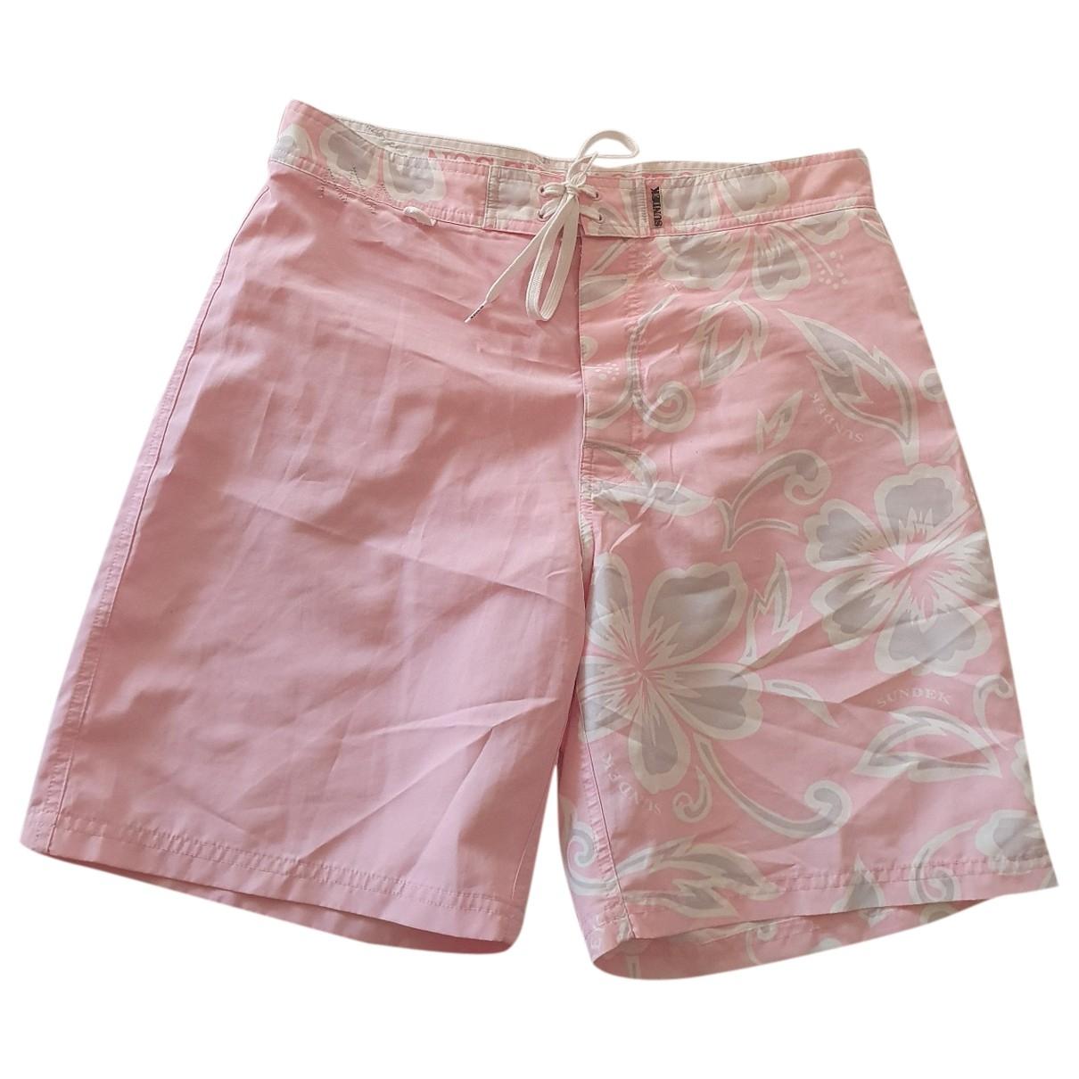 Sundek \N Badeanzug in  Rosa Polyester