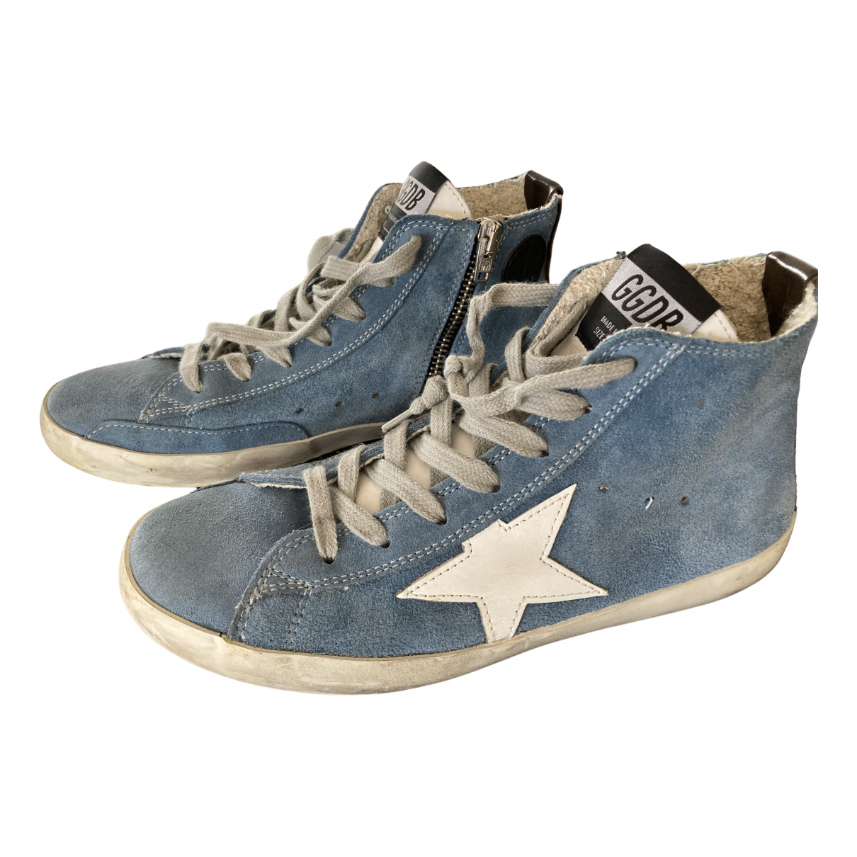 Golden Goose Francy Sneakers in  Blau Veloursleder
