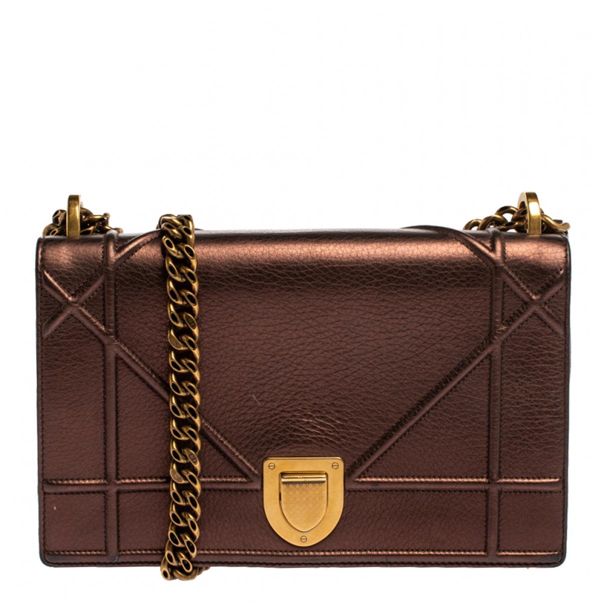 Dior - Sac a main Diorama pour femme en cuir - marron