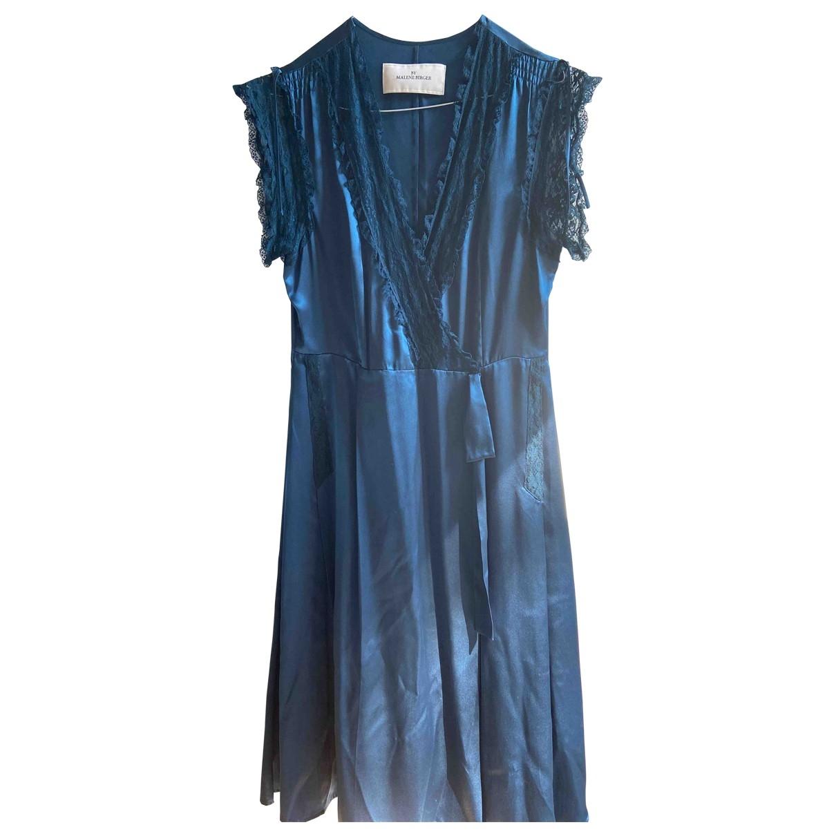 By Malene Birger - Robe   pour femme en soie - bleu