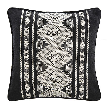 Safavieh Plush Black Ivory Square Throw Pillow, One Size , Black