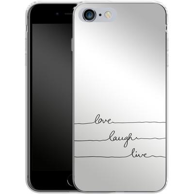 Apple iPhone 6 Plus Silikon Handyhuelle - Love, Laugh, Live von Mareike Bohmer