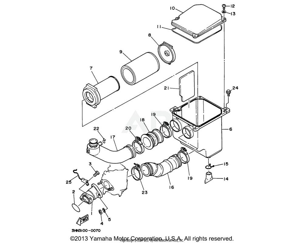 Yamaha OEM 2HR-14453-00-00 JOINT, AIR CLEANER 1
