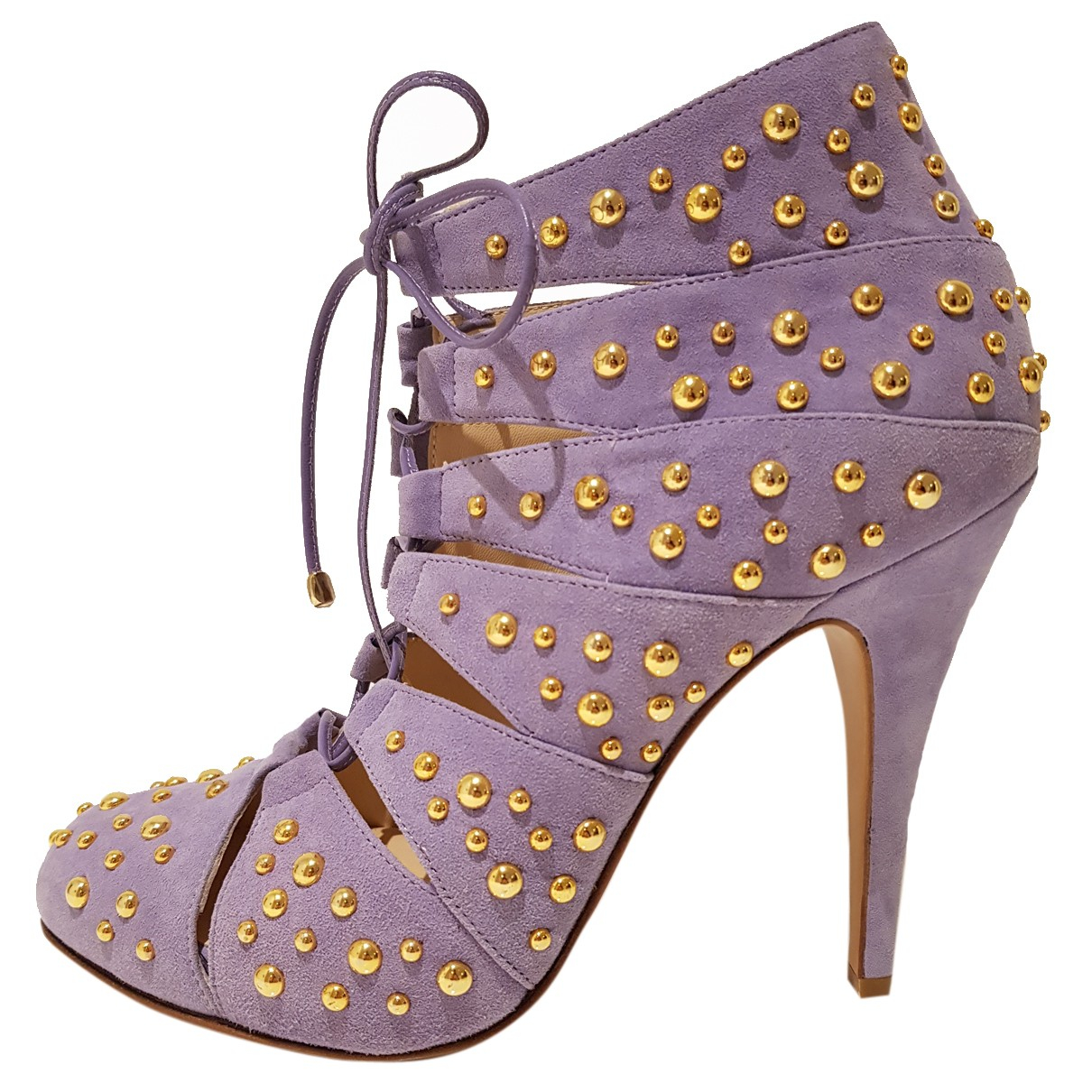 Bionda Castana N Purple Suede Ankle boots for Women 36 EU
