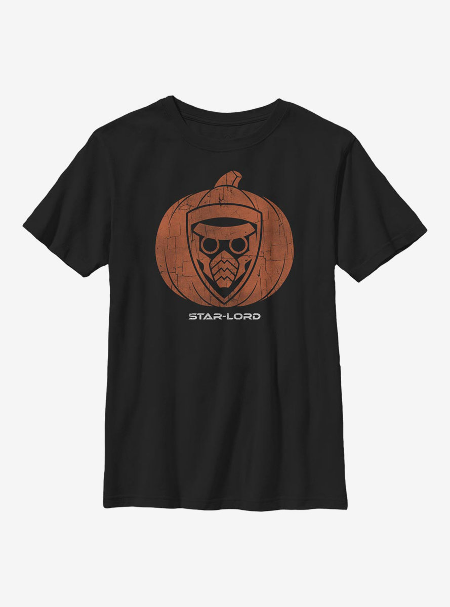Marvel Guardians Of The Galaxy Star Lord Pumpkin Youth T-Shirt