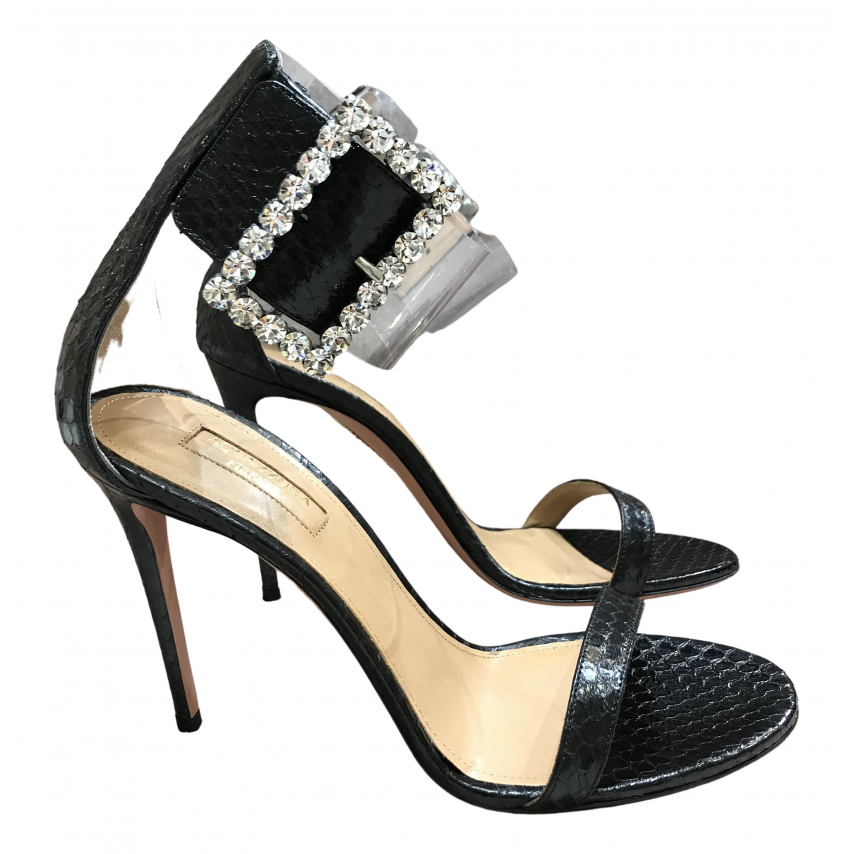 Aquazzura \N Black Water snake Sandals for Women 40 EU
