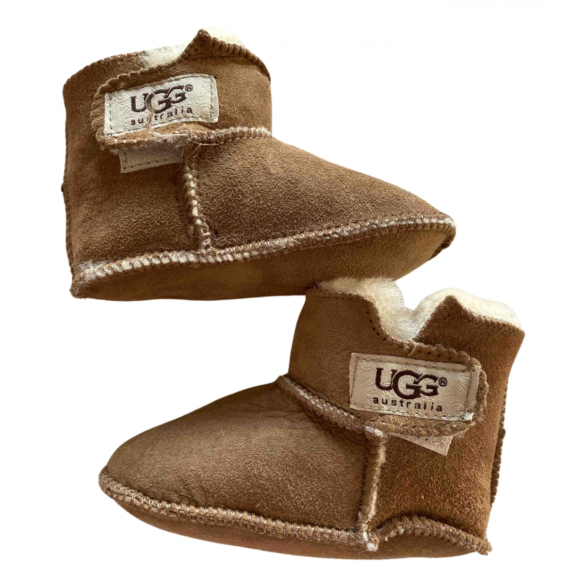 Ugg - Bottes.Bottines   pour enfant en suede - marron