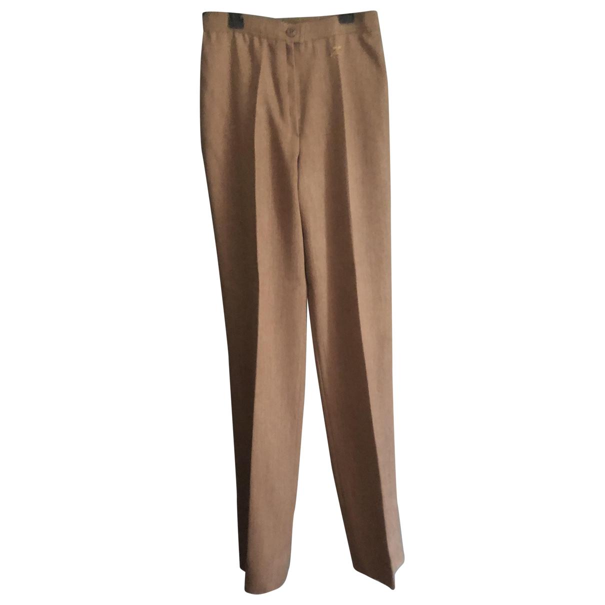 Courreges - Pantalon   pour femme en laine - camel