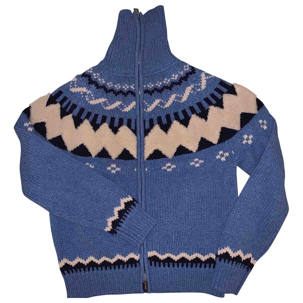 Moncler \N Pullover.Westen.Sweatshirts  in  Bordeauxrot Wolle