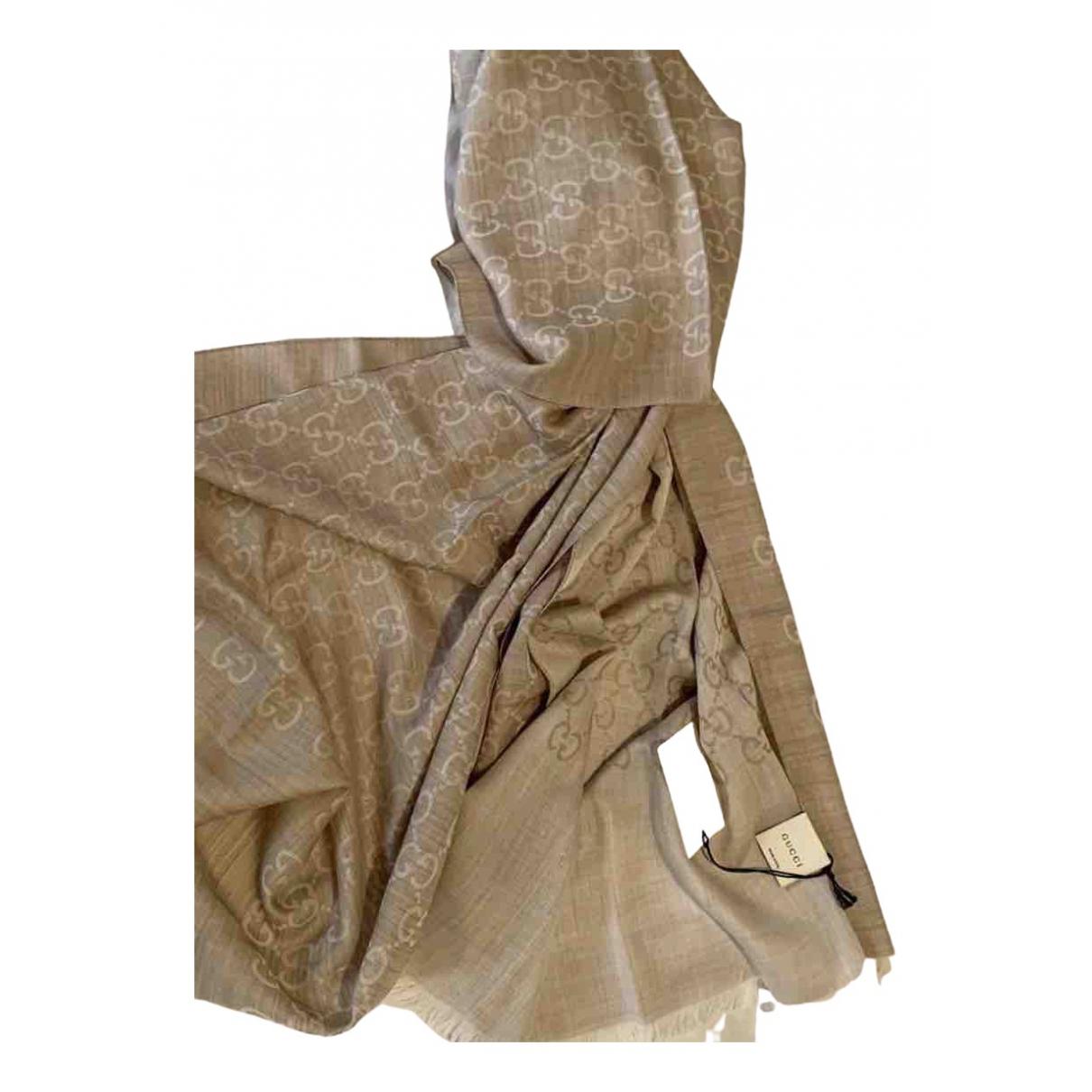 Gucci \N Beige Wool scarf for Women \N