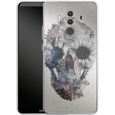 Huawei Mate 10 Pro Silikon Handyhuelle - Floral Skull 2 von Ali Gulec