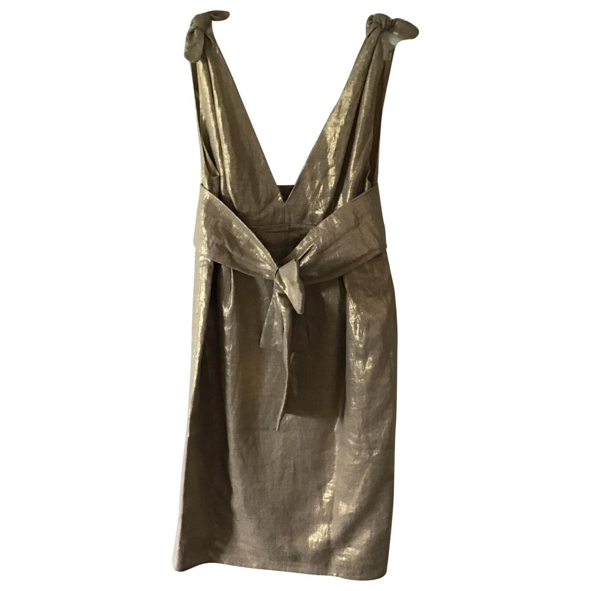 Alexander Mcqueen - Robe   pour femme en coton - dore