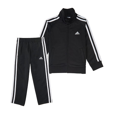 adidas Little Boys 2-pc. Track Suit, 5 , Black