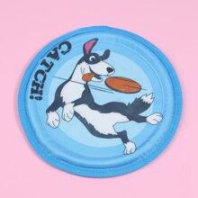 Cartoon Graphic Dog Frisbee