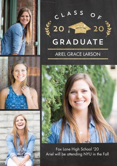 2020 Graduation Announcements 5x7 Cards, Premium Cardstock 120lb, Card & Stationery -2020 Grad Laurel by Tumbalina