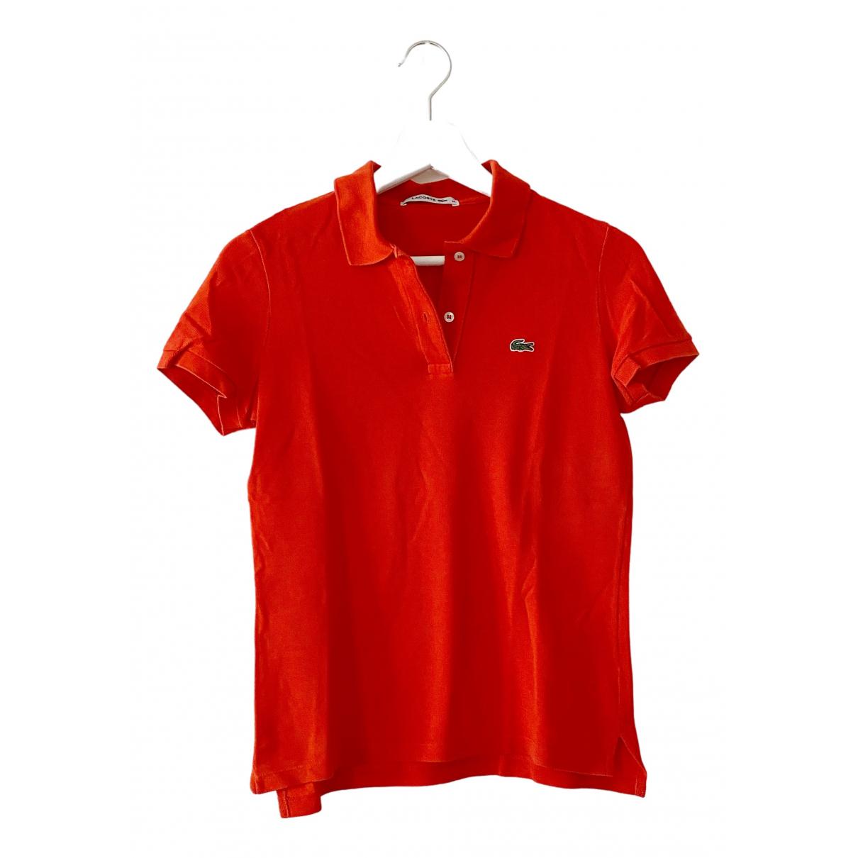 Lacoste N Orange Cotton  top for Women 34 FR