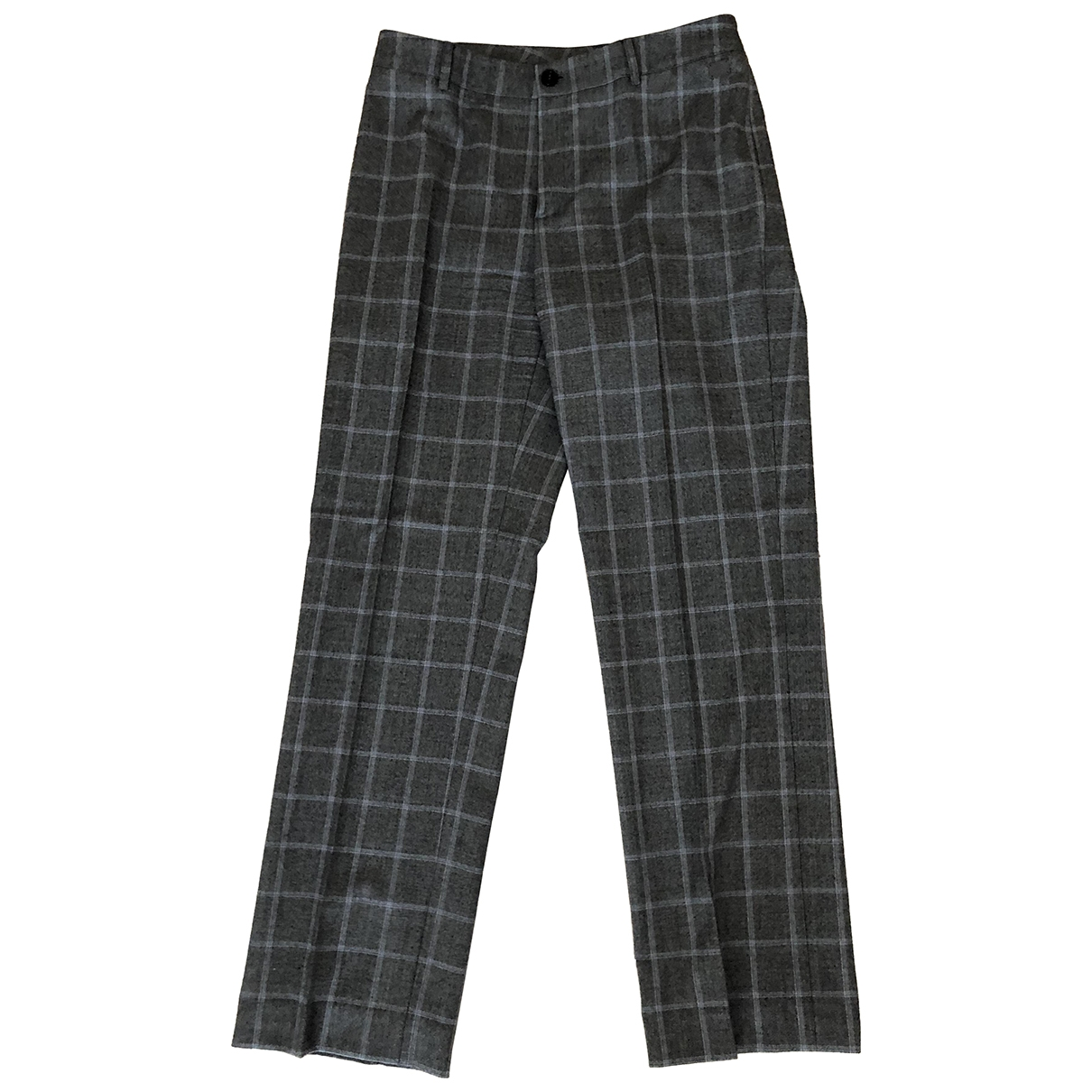 Burberry \N Grey Wool Trousers for Women 42 IT