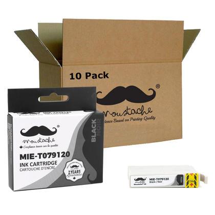 Compatible Epson 79 T079120 cartouche dencre noire haute capacite - Moustache - 10/paquet