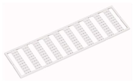 Wago Relay Label Marker for use with 788, 857, 858, Width 5 → 17.5 mm Terminal Block
