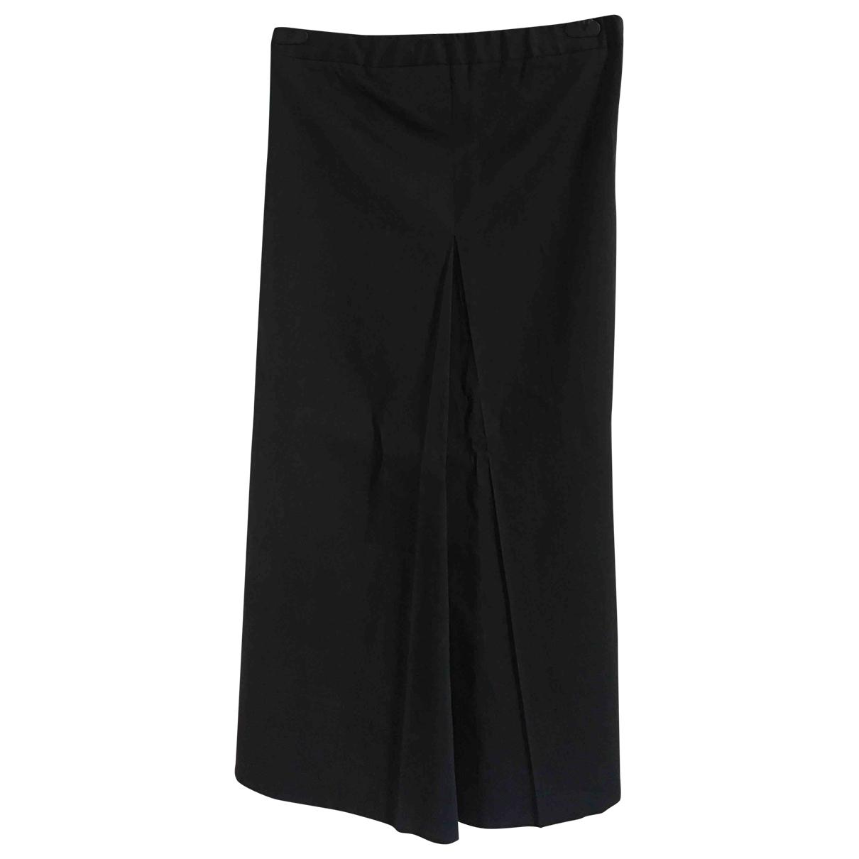 Maison Martin Margiela \N Black Cotton Trousers for Women 44 IT