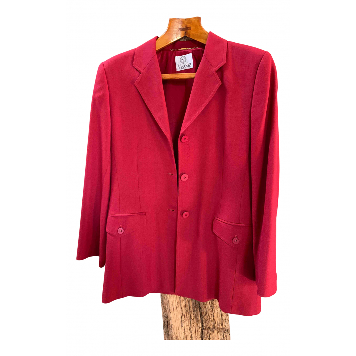 Non Signe / Unsigned \N Jacke in  Rot Polyester