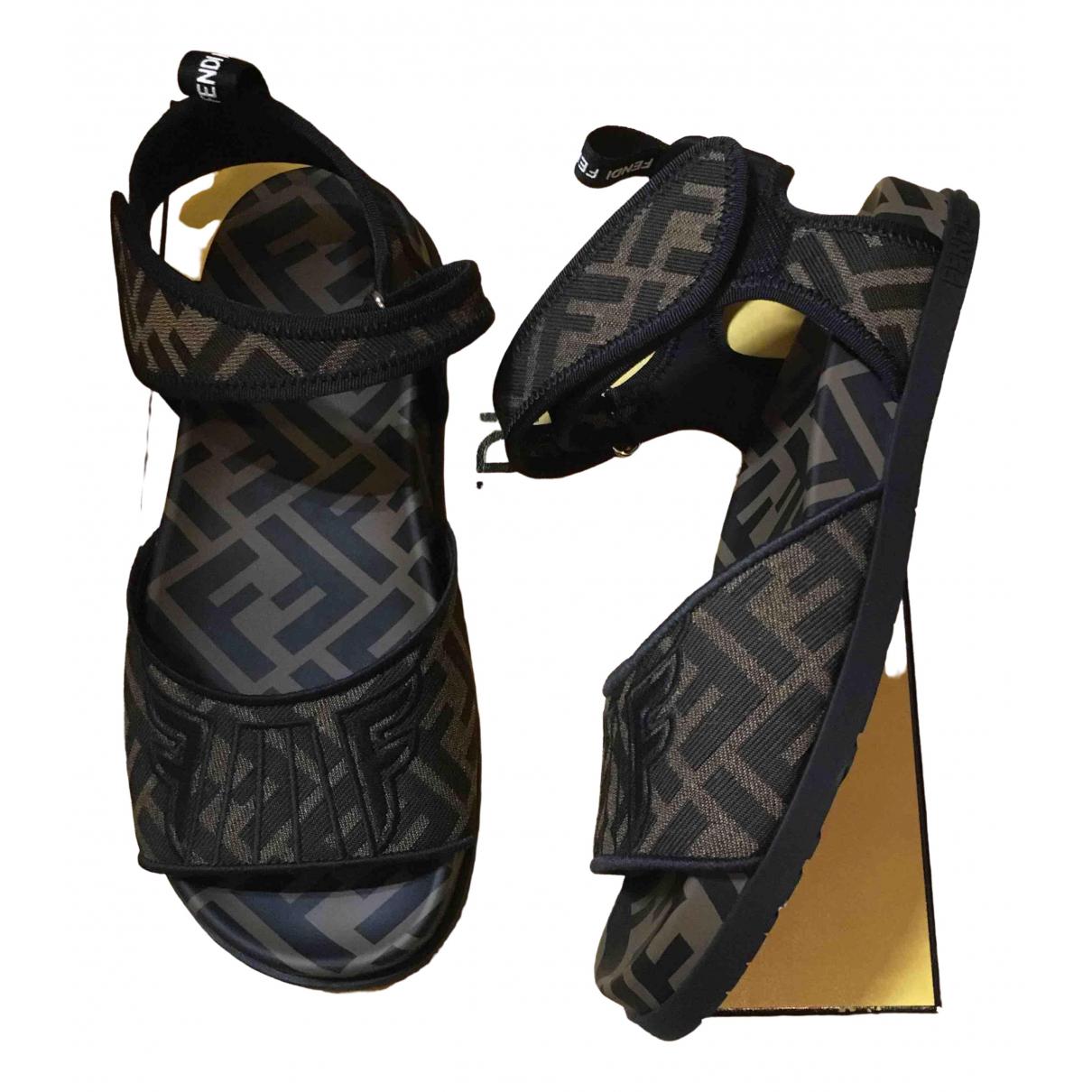 Fendi \N Brown Cloth Sandals for Women 37.5 EU