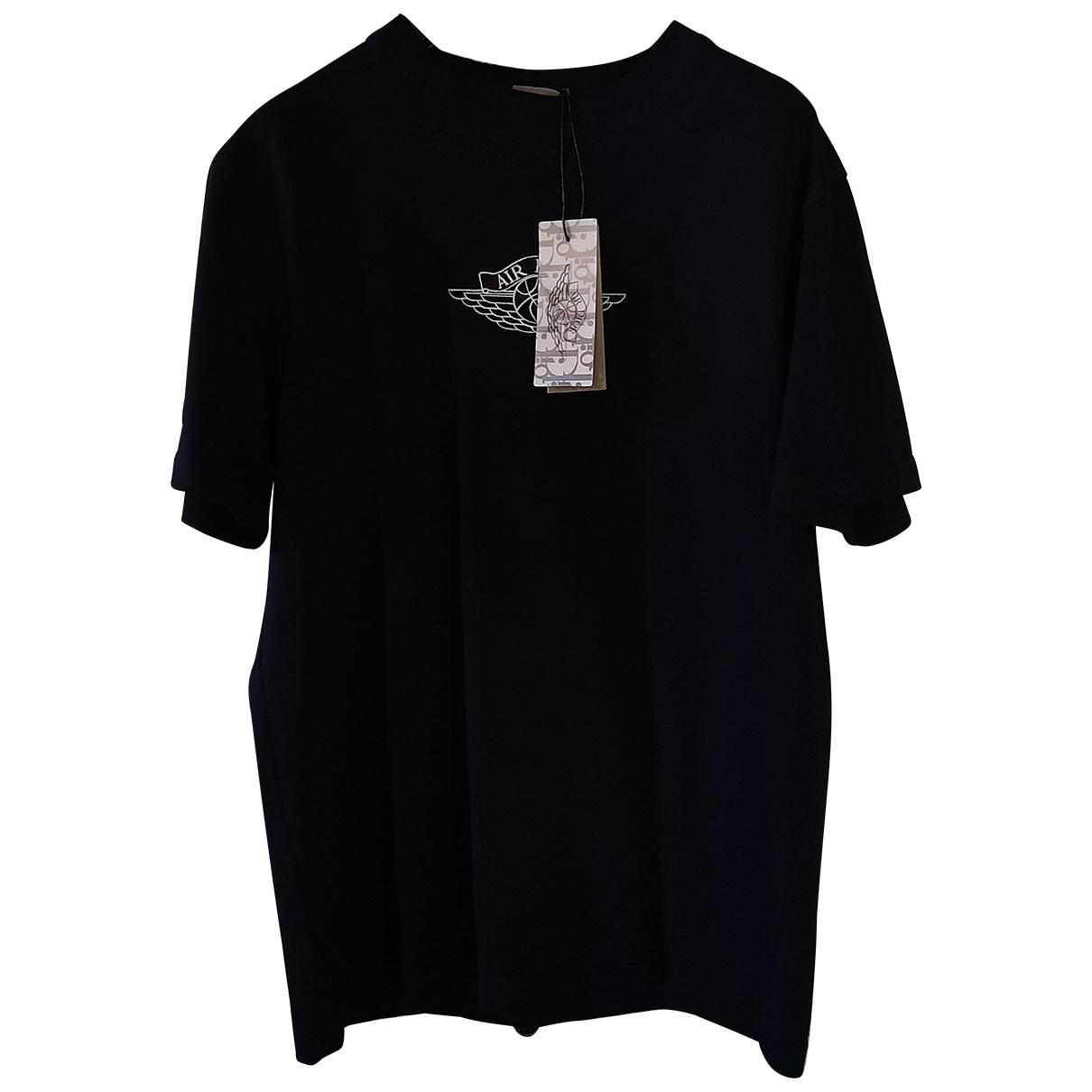 Jordan X Dior - Tee shirts   pour homme en coton - noir