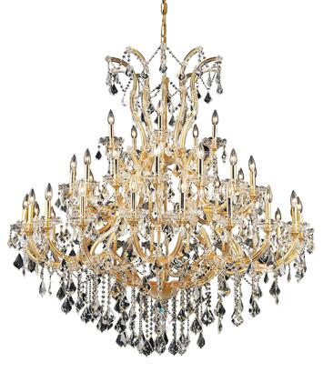 2800G52G/SS 2800 Maria Theresa Collection Large Hanging Fixture D52in H54in Lt: 40+1 Gold Finish (Swarovski Strass/Elements