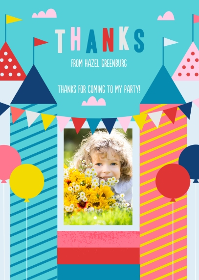 Kids Thank You Cards 5x7 Folded Cards, Premium Cardstock 120lb, Card & Stationery -Jump For Joy Thank You