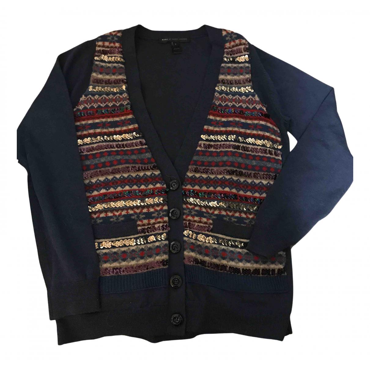 Marc By Marc Jacobs - Pull   pour femme en laine - bleu